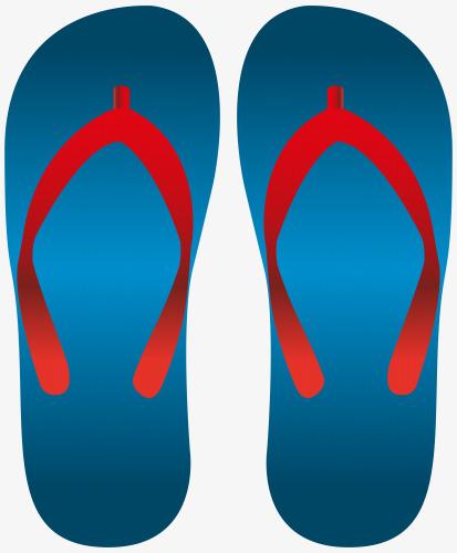 Free summer sandals pull material, Flip Flops, Red, Blue Free PNG Image - Free PNG HD Flip Flops