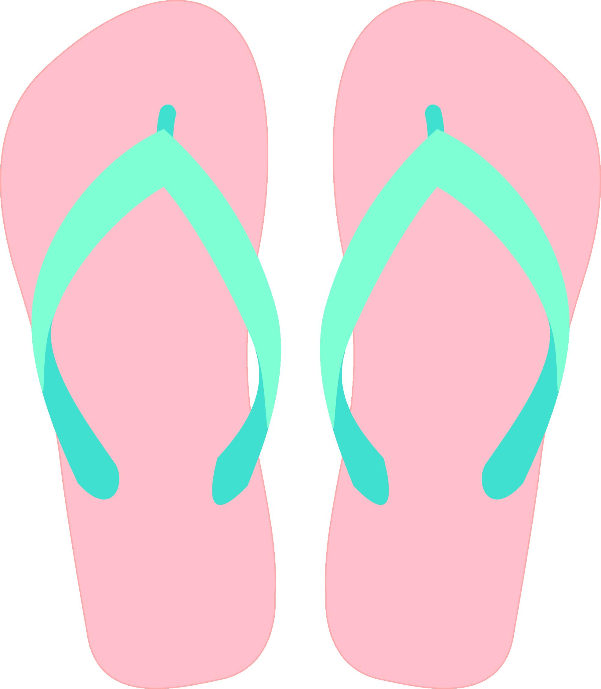 Cartoon orange flip flops, Ca