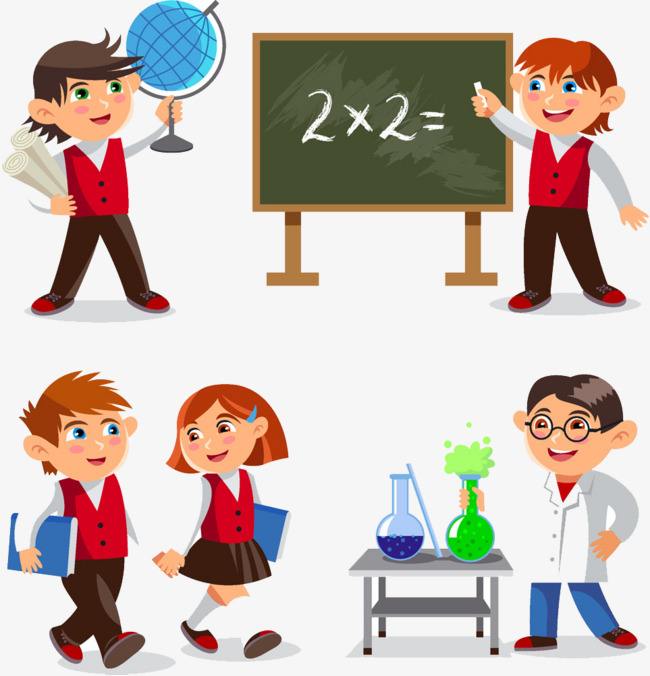 HD Free school children creative deduction, School Children, Parenting,  Cartoon Free PNG Image - Free PNG HD For School Use
