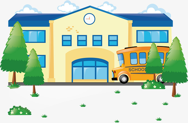 vector flat school, Vector School Download, Building, School PNG and Vector - Free PNG HD For School Use