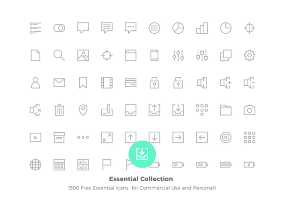 Essential Collection: 500 free vector icons - Free PNG HD Images For Commercial Use