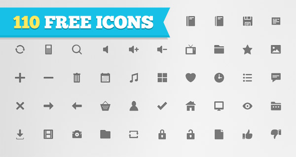 Free Download: 110 Flat Icons For Personal or Commercial Use [with PSDs] - Free PNG HD Images For Commercial Use