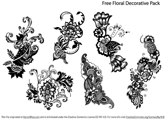 Free hand drawn floral decorative vector pack by SmashingStock pluspng pluspng.com.  File format Ai - Free PNG HD Images For Commercial Use