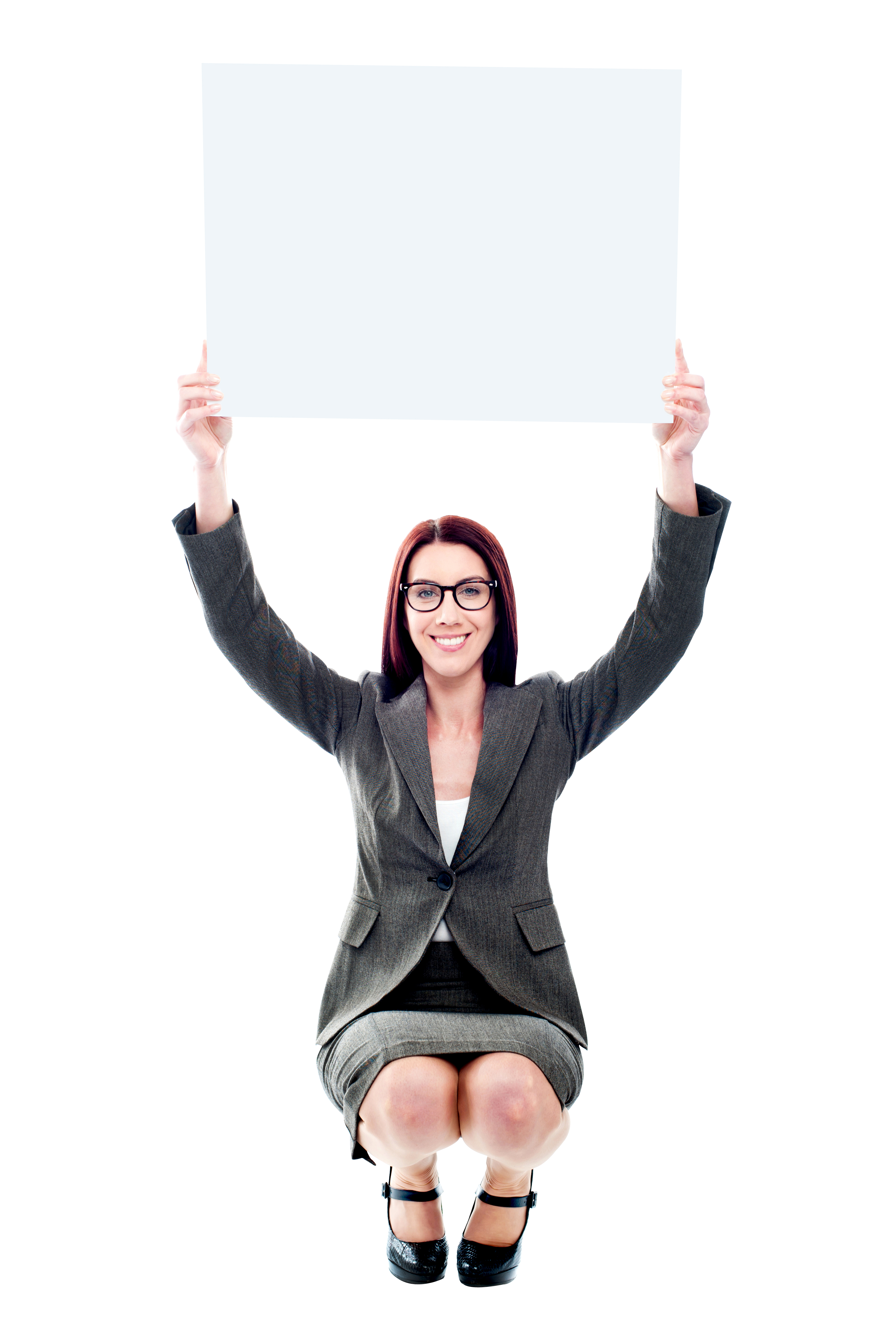 Girl Holding Banner Free Commercial Use PNG Image - Free PNG HD Images For Commercial Use