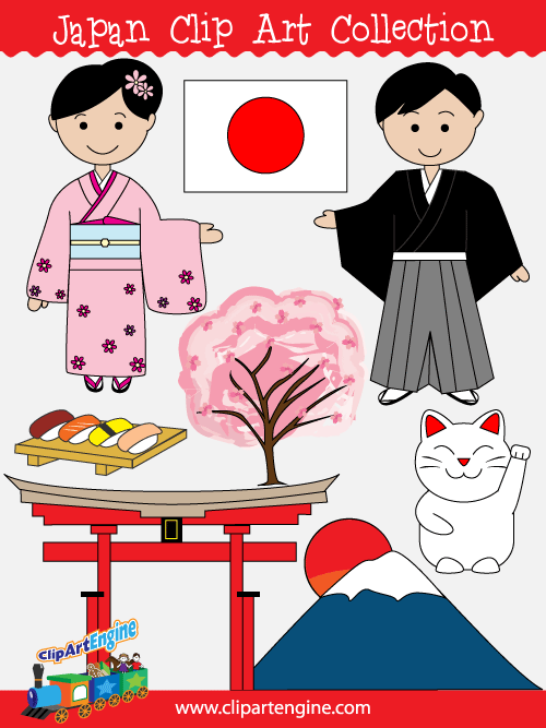 Japan Clip Art Collection is a set of royalty free vector graphics that  includes a personal - Free PNG HD Images For Commercial Use