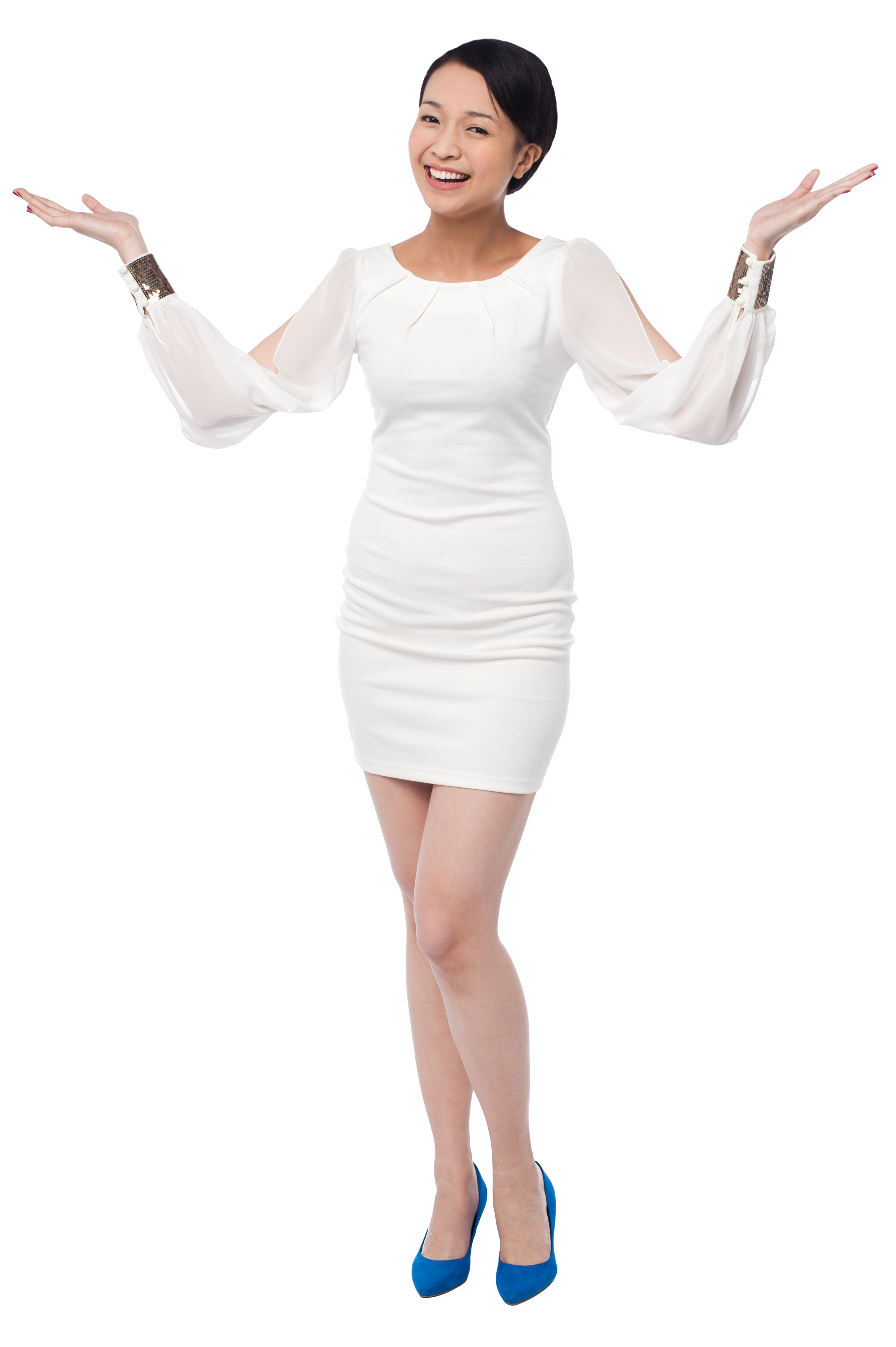 Women Pointing Both Sides Free Commercial Use PNG Image - Free PNG HD Images For Commercial Use