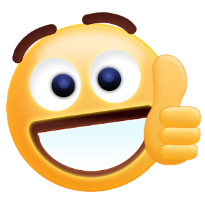 Free Thumbs Up Emoji Sticker - Free PNG HD Smiley Face Thumbs Up