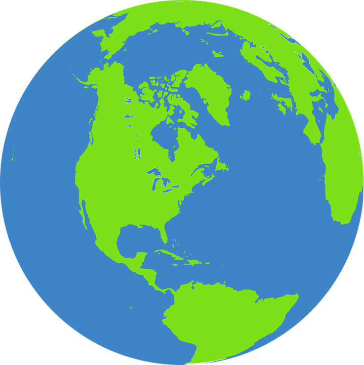 Globe, Earth, World, Map, Blue, Green, Water, Ocean - Free PNG HD World Globe
