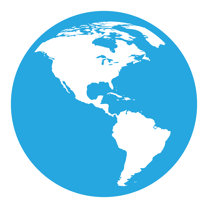 World, Earth, Globe, Planet, Global, Earth Globe, Blue - Free PNG HD World Globe