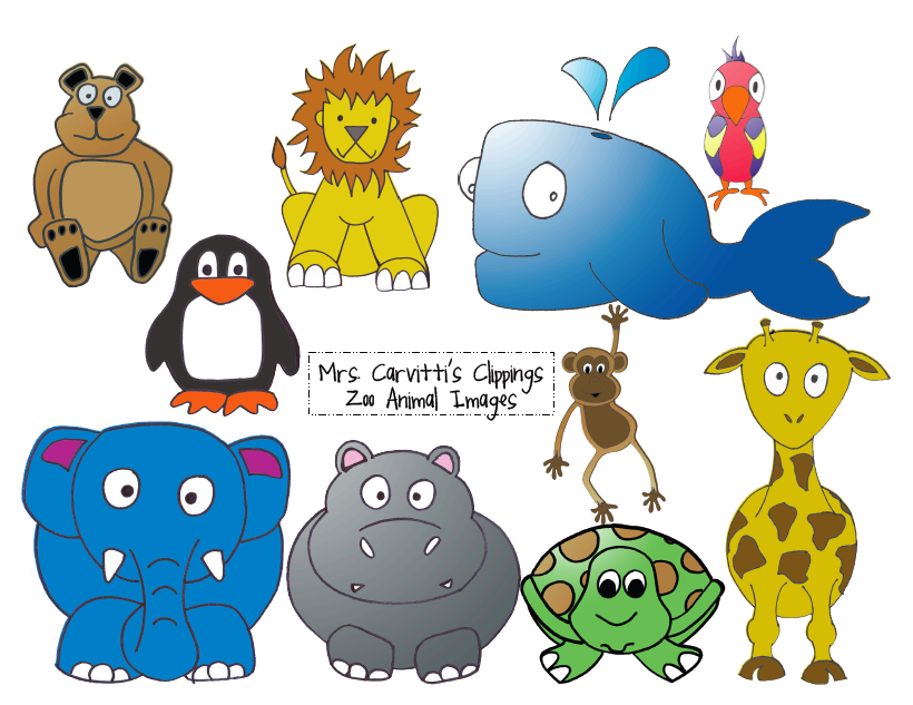 Clip Art Zoo Animals - Clipart library - Free PNG HD Zoo Animals