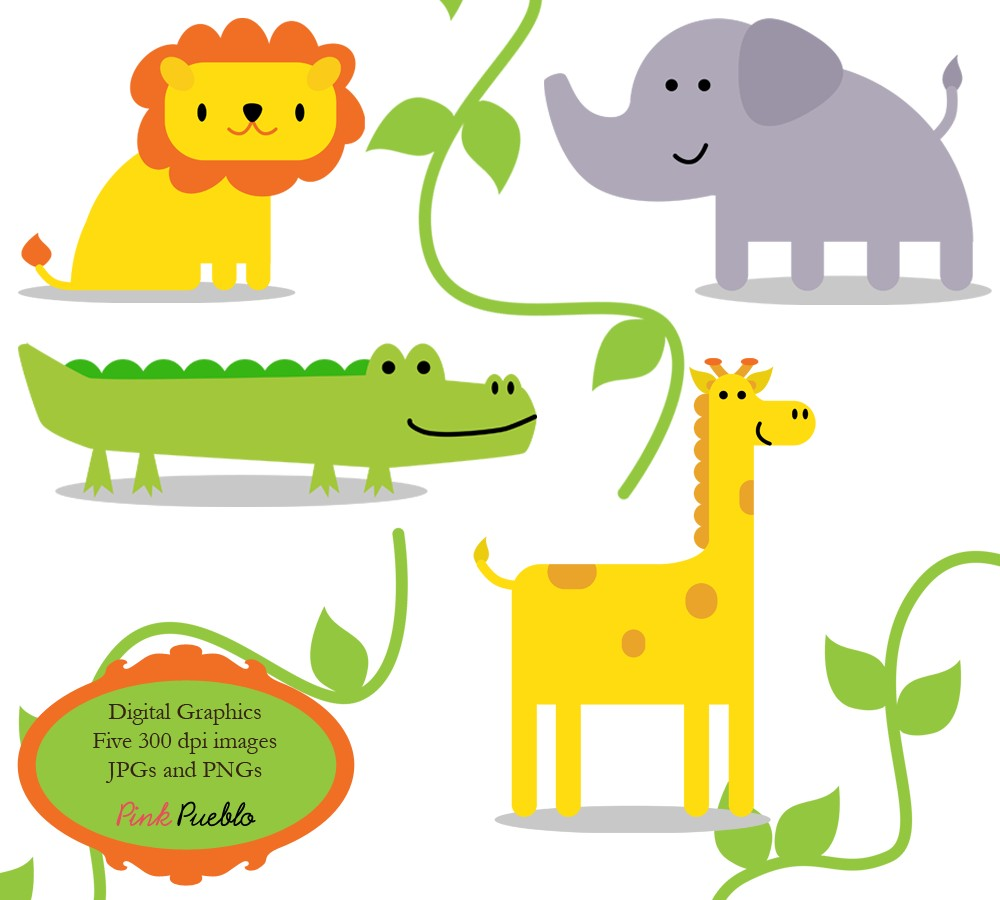 Popular items for wild animal clip art on Etsy - Free PNG HD Zoo Animals