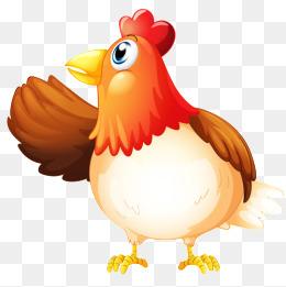 hen, Cartoon Animals, Hand-pa