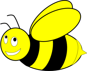 Black And Yellow Honey Bee Clip Art - Free PNG Honey Bee
