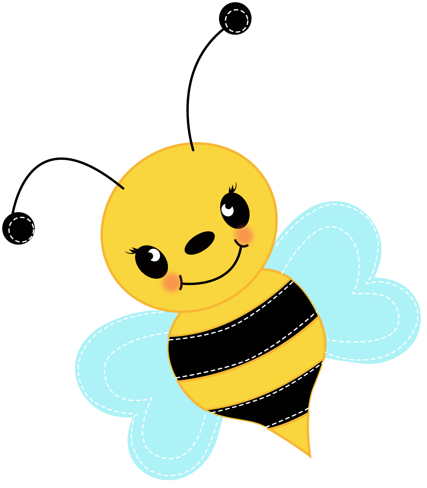 Free cute bee clip art for - Free PNG Honey Bee