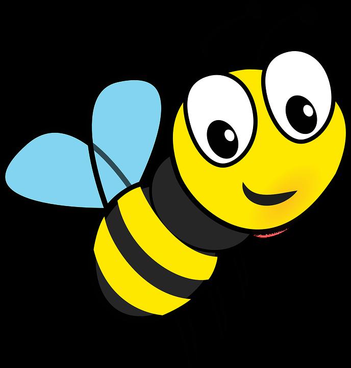 Honey, Bee, Flying, Insect, Honeybee, Buzz, Cartoon - Free PNG Honey Bee