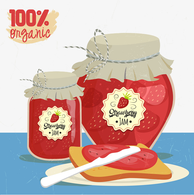 Strawberry jam bread Free PNG and Vector - Free PNG Jam