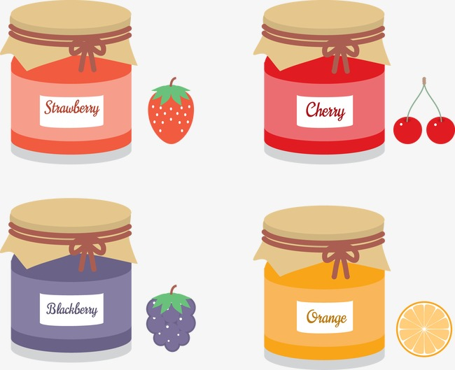 Vector fruit jam and free mason jar Free PNG and Vector - Free PNG Jam