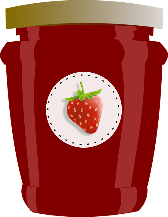 Strawberry, Jar, Jam, Jelly, Preserves, Label - Free PNG Jelly