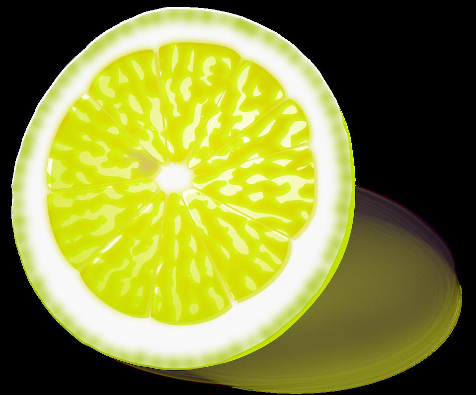 Illustration of a yellow lemon slice : Free Stock Photo - Free PNG Lemon Slice
