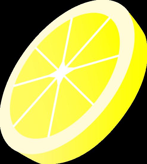 Round yellow lemon slice free clip art - Free PNG Lemon Slice