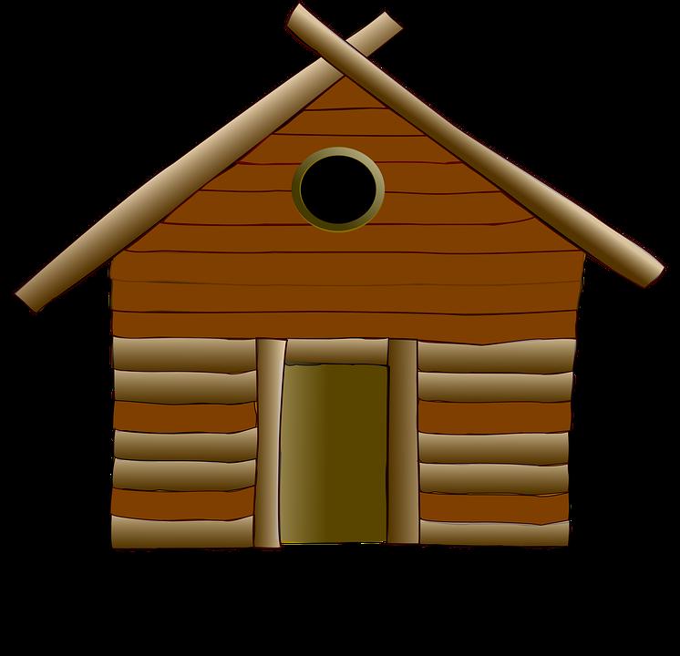 Log Cabin Cottage House Wood Home Wooden Rural