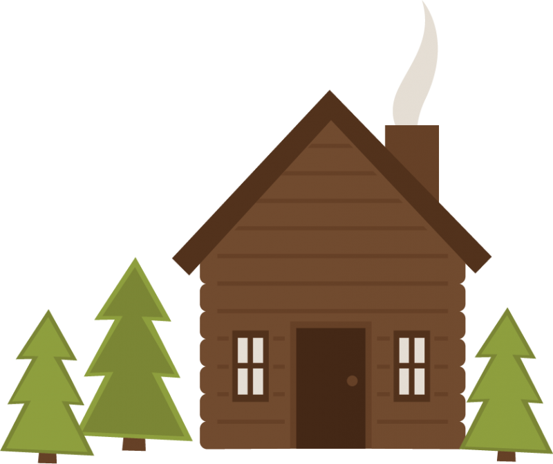 Pin Camping Clipart Cabin In Woods 3