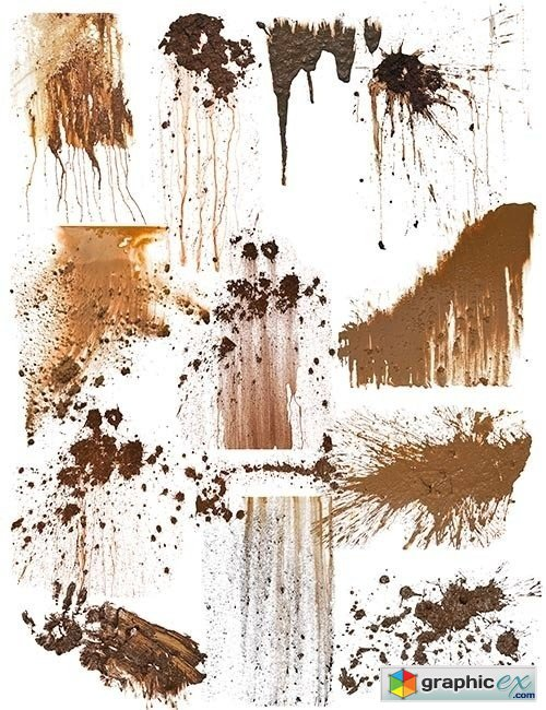 Dirt and Splatter Stain Decals - Textures.com