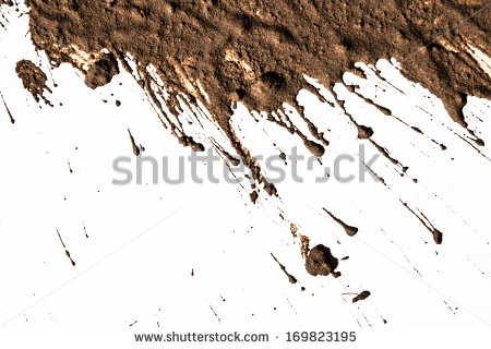 Texture clay moving in white background - Free PNG Mud