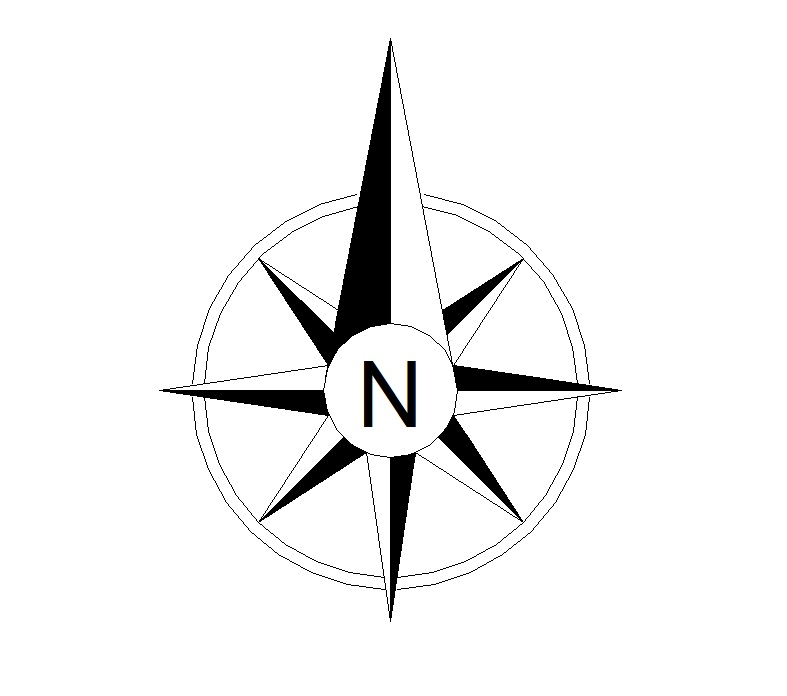 Architectural - Free PNG North Arrow