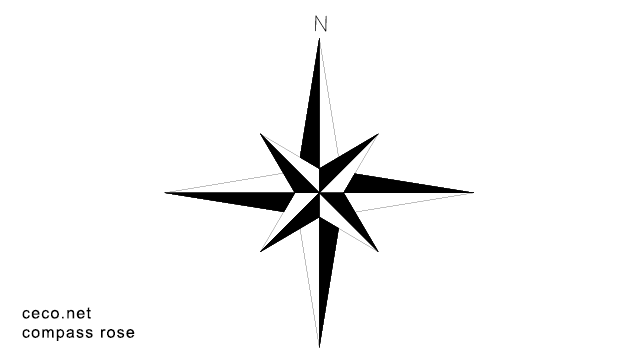 Compass Rose north arrow in Symbols / North Arrows - Ceco.NET free autocad  drawings - Free PNG North Arrow