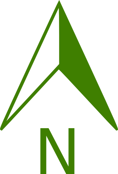 Download this image as: - Free PNG North Arrow