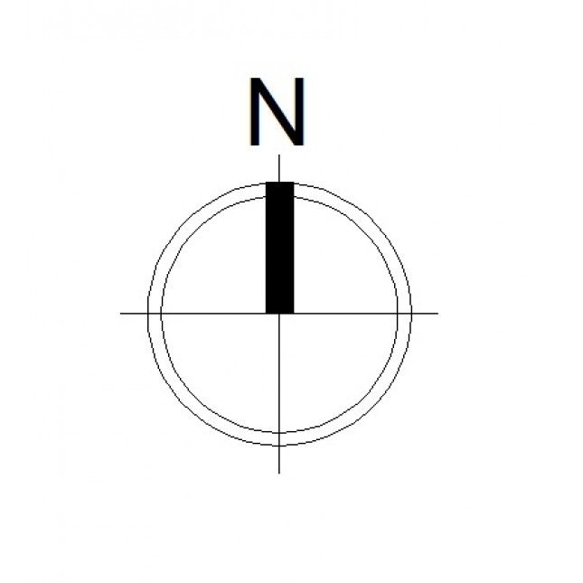 North Arrow (Single 2) - Free PNG North Arrow