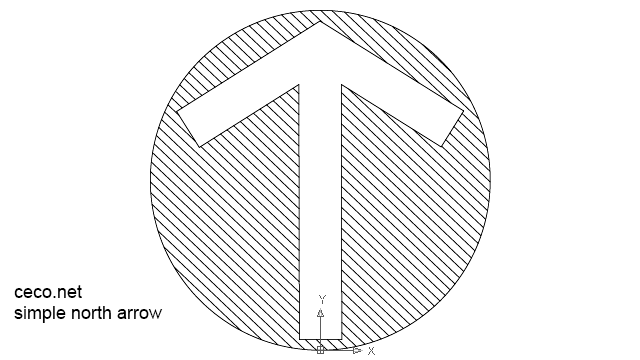 round simple north arrow in Symbols / North Arrows - Ceco.NET free autocad  drawings - Free PNG North Arrow