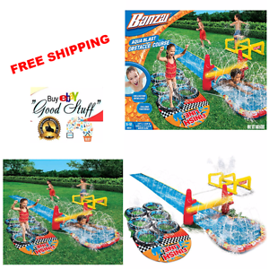 Image is loading Banzai-Aqua-Blast-Obstacle-Course-Water-Slide-16- - Free PNG Obstacle Course