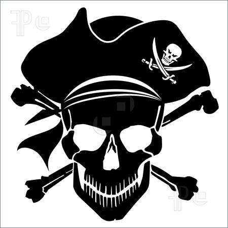 Pirate, Skull, Purple, Skullc