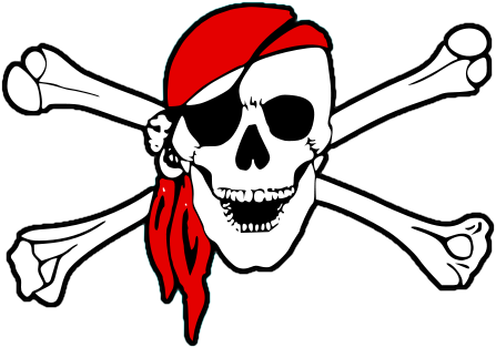 Skull, Swords, Crossed, Pirat