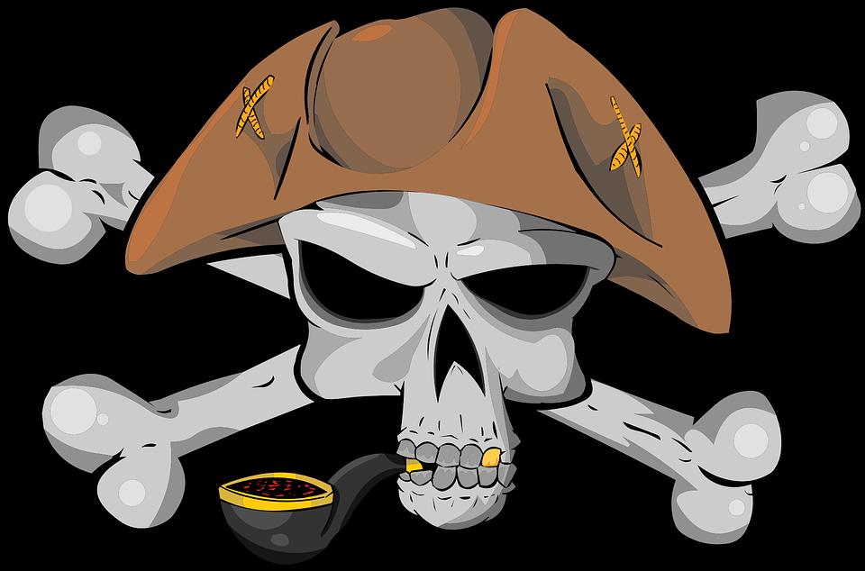 pirate skull bone hat tobacco