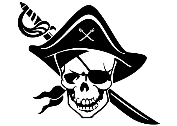PNG Pirate Skull