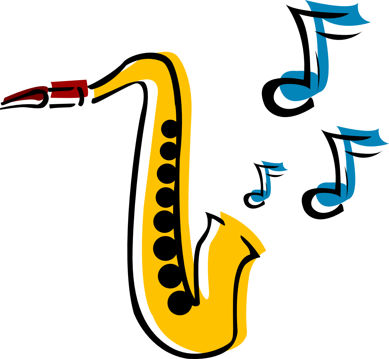 Saxophone clipart 5 - Free PNG Saxophone