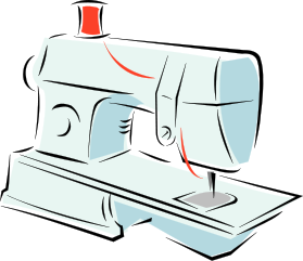 Free sewing clipart 1 page of