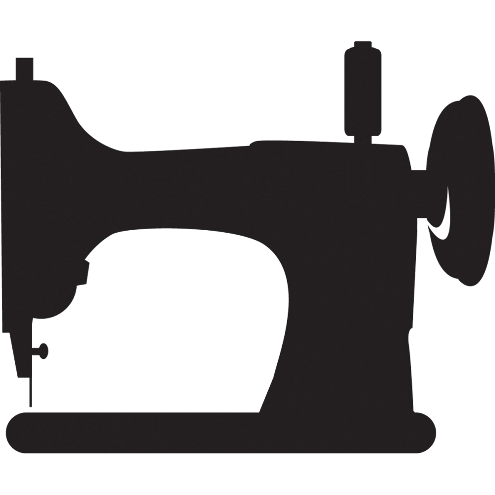 Sewing machine silhouette clip art pictures to pin on 3 - Free PNG Sewing Machine