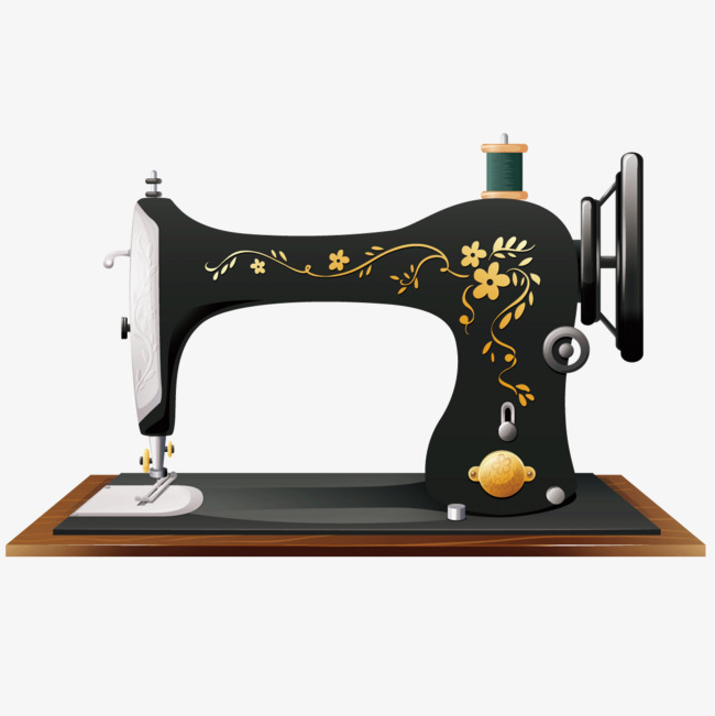 Vintage sewing machine Free PNG and Vector - Free PNG Sewing Machine