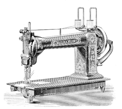 Vintage Sewing Machine Vector Free PNG image - Free PNG Sewing Machine