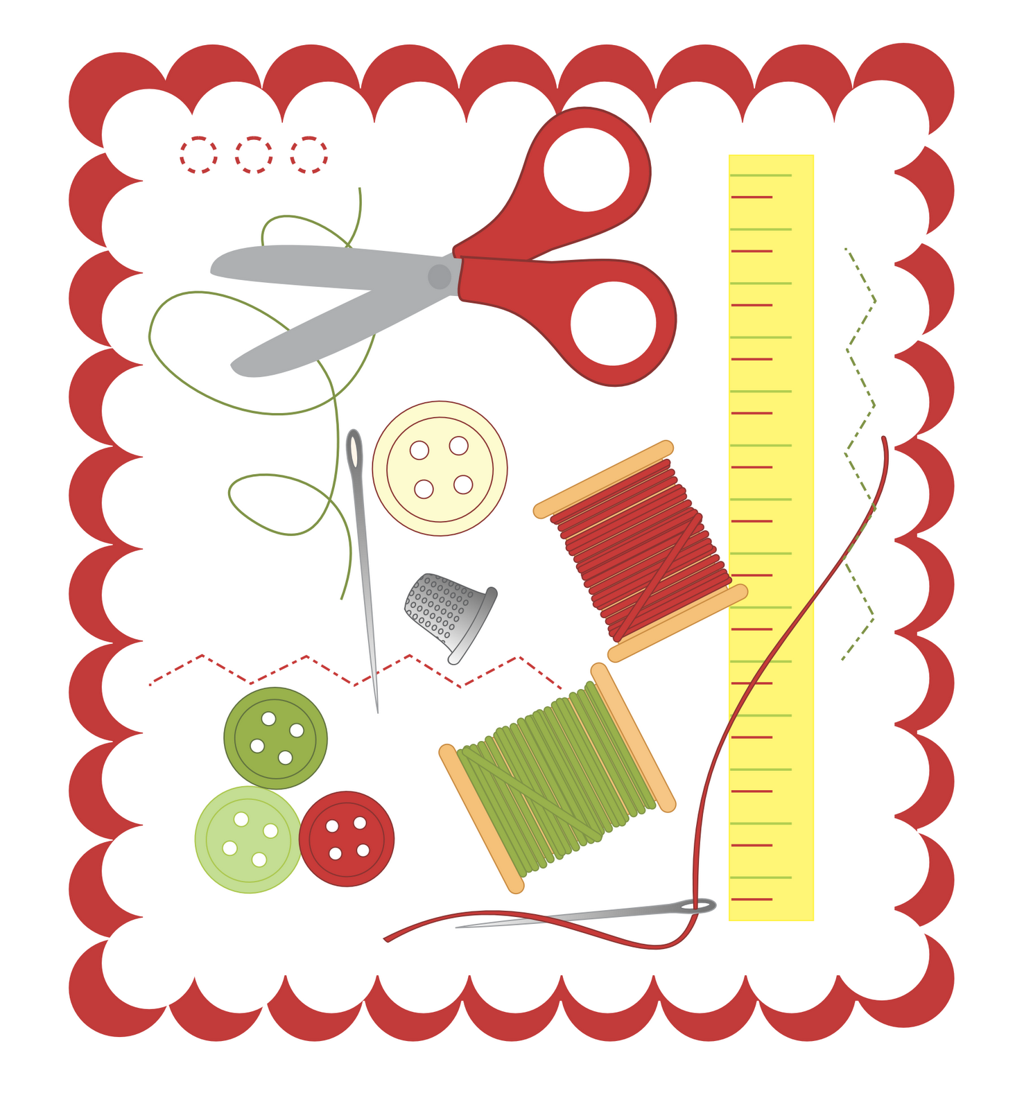 Sewing clip art free - Free PNG Sewing Notions