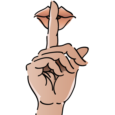 Free PNG Shhh Quiet - 87433