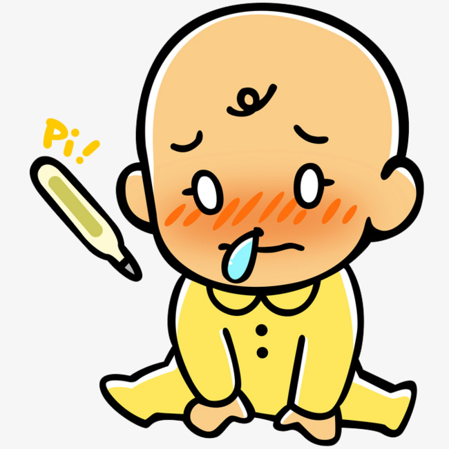 Cartoon baby sick runny nose bubble Free PNG - Free PNG Sick