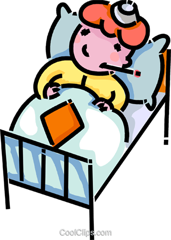 sick child laying in bed - Free PNG Sick