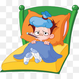 Sick child, Sick, Child, Bed PNG Image - Free PNG Sick