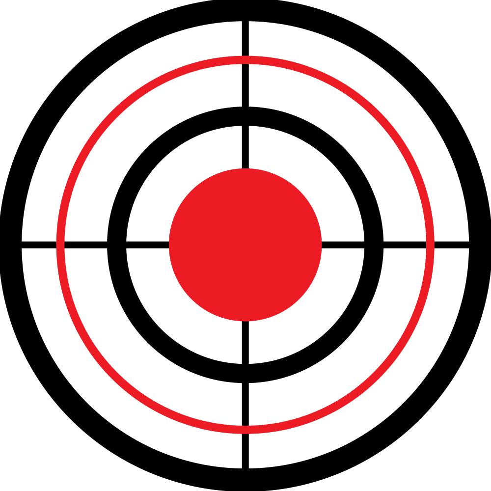 Bullseye With Sites Wall Ball Target - Wall Ball Targets - Free PNG Target Bullseye