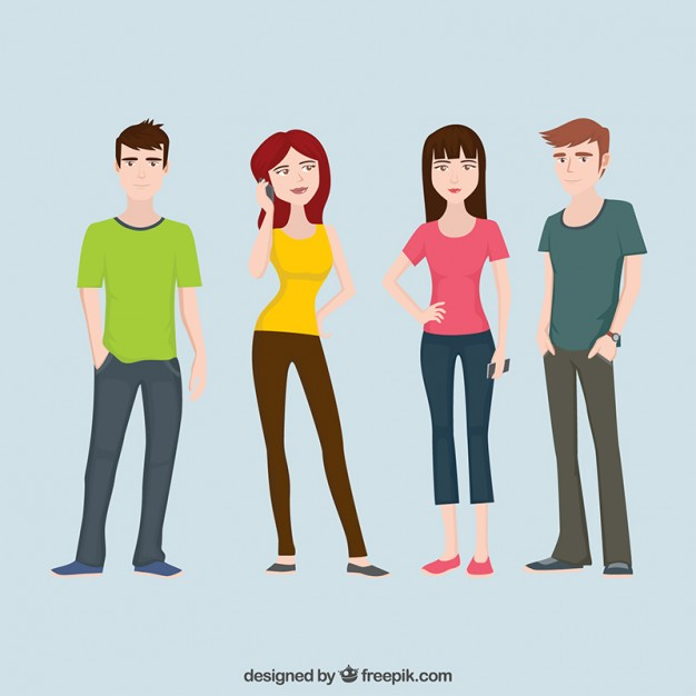 Teenagers Character Flat Collection - Free PNG Teenagers